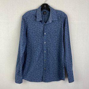 HUGO BOSS Pattern Blue Shirt